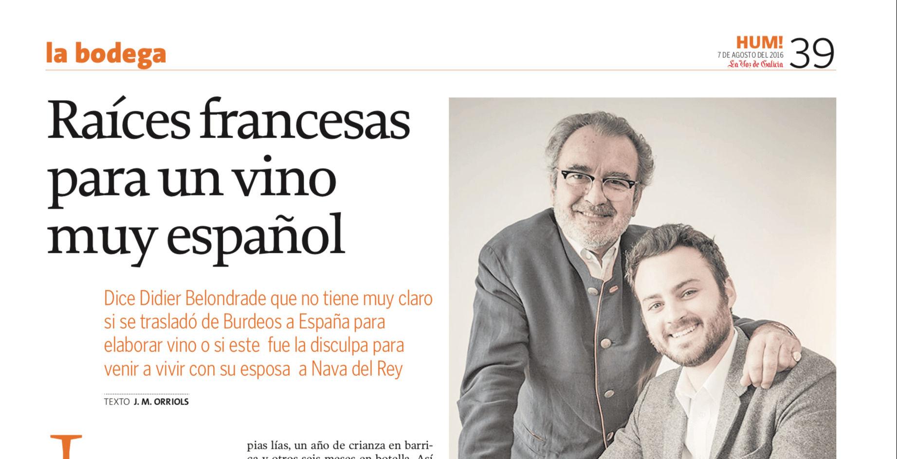 Raíces francesas para un vino muy español - La Voz de Galicia